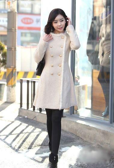 韩版大衣配丝袜 秋冬时尚潮流任你搭